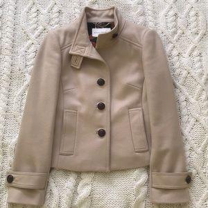 Banana Republic Short Tan 100% Wool Coat, XS